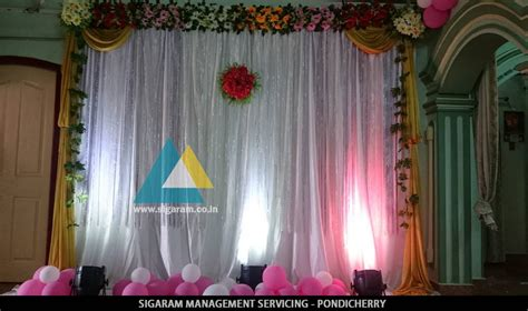 simple backdrop decoration  kathani vizha function