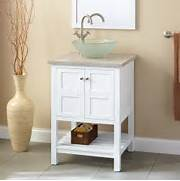 Bathroom Vanity With Vessel Sink 407688 24 Everett White Vanity Vessel Sinks Bathroom Ideas For Perfect Style Top Vessel Sinks Bathroom Ideas Vessel Sinks Bathroom Ideas For Perfect Style Gramour Vessel Sinks Ideas With Trendy Double Float Vanity With Awesome White Vessel Sink