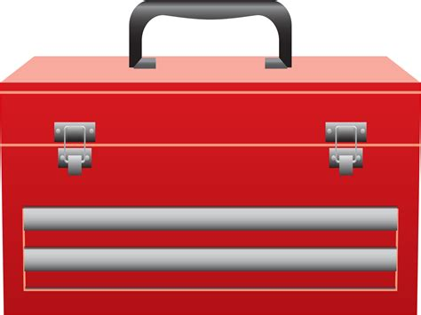 Clipart  Red Toolbox