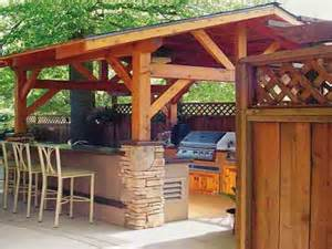 Outdoor Kitchen Designs with Roofs
