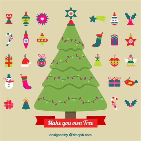make your own christmas tree vector free download