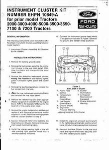 1972 Ford Dash Cluster Wiring Diagram