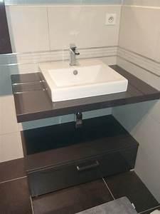 bricolage de l39idee a la realisation salle de bain With salle de bain design avec vasque à poser gris anthracite