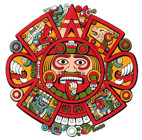 aztec colors aztec calendar clipart clipart collection aztec