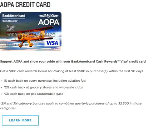 Check spelling or type a new query. How to Apply for the AOPA BankAmericard Cash Rewards Visa Signature Credit Card