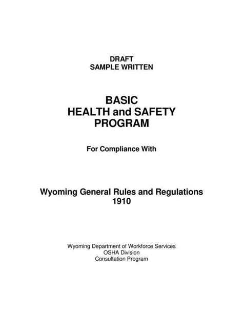 health  safety proposal templates  word excel