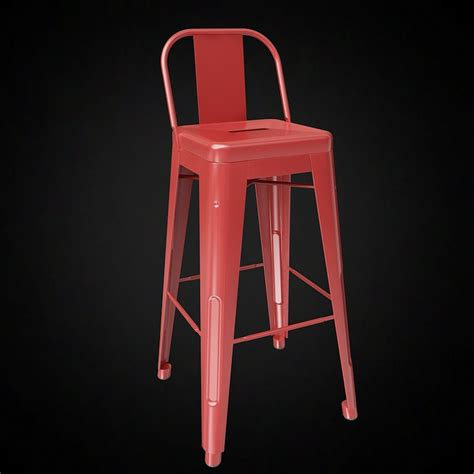 tolix wide  bar stool  furniture  models