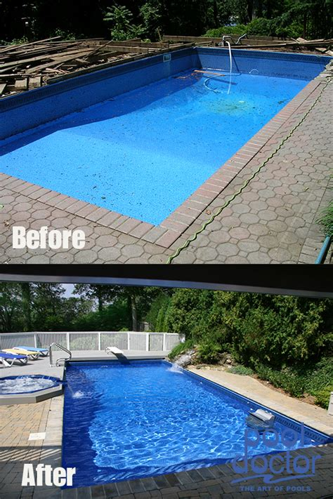 pool before and after before and after pool doctor