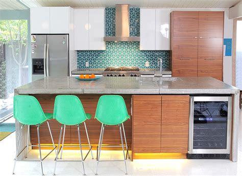 mid century modern kitchen backsplash eichler kitchen remodel fireclay tiled backsplash mid 9162