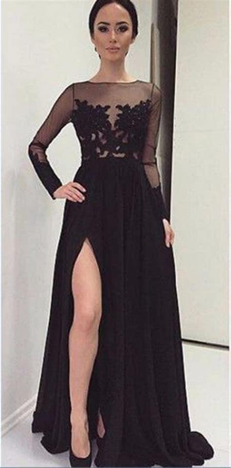 long black gown  sleevesblack dressesdressesss