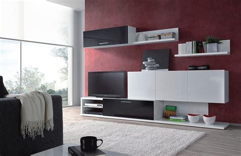 mueble de comedor salon moderno blanco  negro brillo ebay