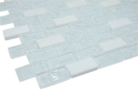 venice series 1x2 white cleft glass bianco marble
