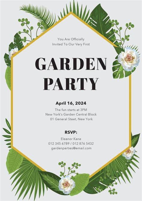 18+ Garden Party Invitation Designs & Templates PSD AI