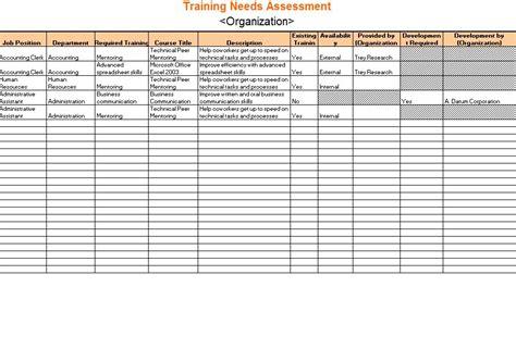 training  assessment  training