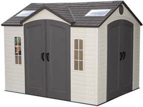 lifetime 10x8 backyard storage shed w double doors