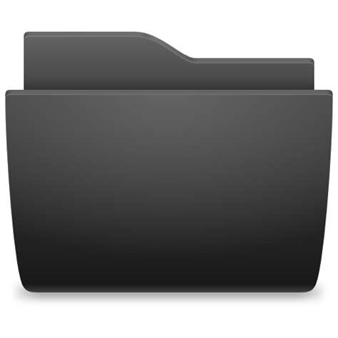 Black File Folder Icon