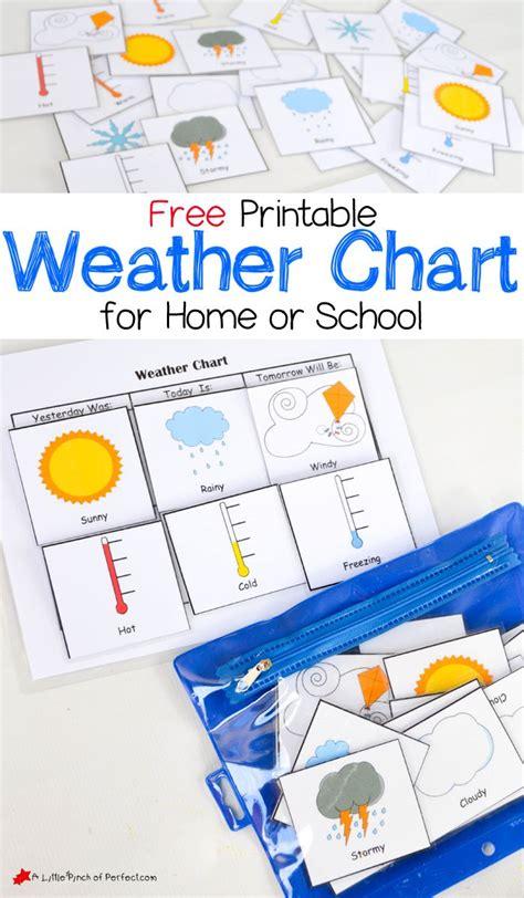 printable weather chart  home  school