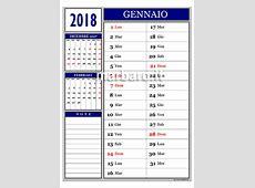 Calendario 2018 mensile da stampare scarica gratis il tuo!