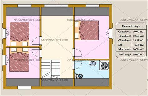f3 combien de chambre combien coute une maison en bois en kit