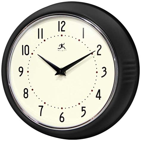 kitchen wall clock the retro black wall clock by infinity instruments