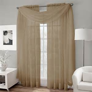 crushed voile sheer scarf valance bedbathandbeyond
