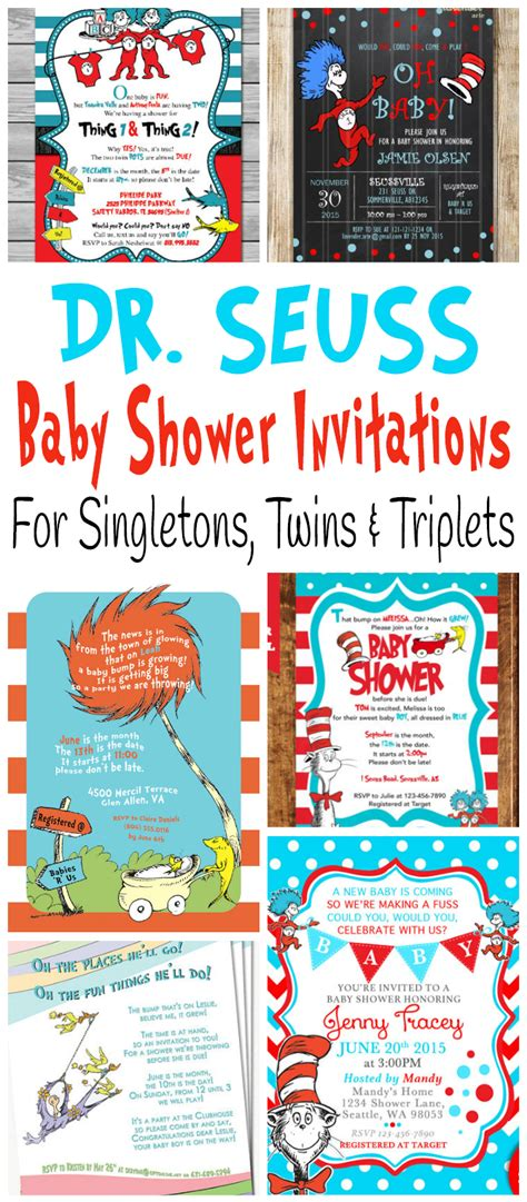 dr seuss baby shower printable dr seuss baby shower invitations for one baby