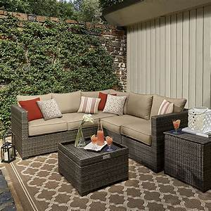 Grand Resort Monterey Pc Sectional Set Neutral Outdoor