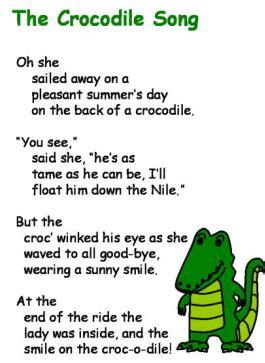 songs nursery rhymes fairy tales pre  reptiles
