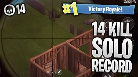 kill solo record pro fortnite mobile gameplay