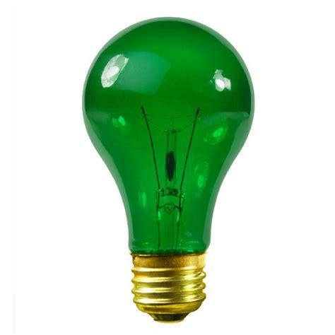 green light bulbs satco s6081 25 watt green light bulb