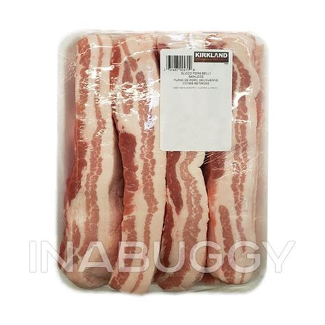 On a recent trip to costco, i scoured the. Kirkland Signature Pork Belly Sliced Skinless ~2.4KG ...