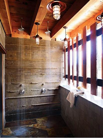 Outdoor Shower Showers Story Sunset Privacy Poolside