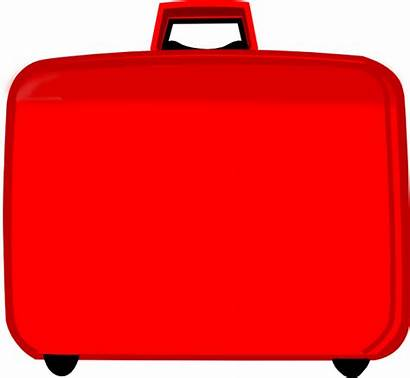 Suitcase Clip Clipart Cliparts Clker Cliparting Domain