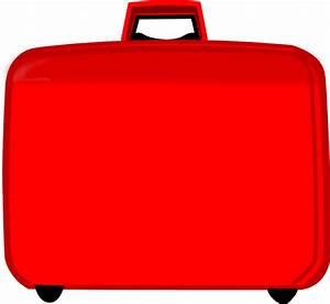 Red Suitcase Clip Art at Clker.com - vector clip art ...