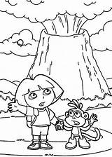 Volcano Coloring Dora Pages Erupting Volcanos Volcanoes Colouring Netart Trending Days Last sketch template