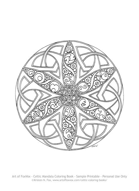 Celtic Mandala Coloring Pages Collection Free Coloring Books