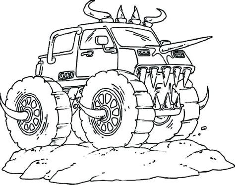 monster truck coloring pages  getcoloringscom  printable colorings pages  print  color