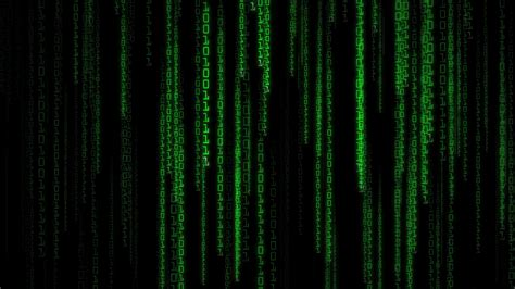 Matrix Code Wallpaper Animated - high definition animated loop of green binary streams