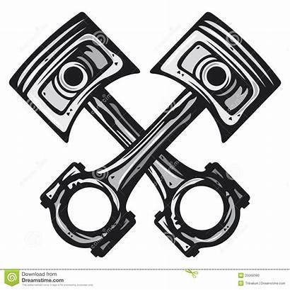 Clip Engine Pistons Clipart Crossed Piston Turbo
