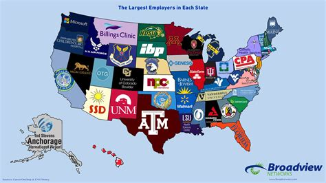 article  map shows  largest employers