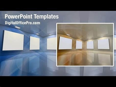 virtual gallery powerpoint template backgrounds