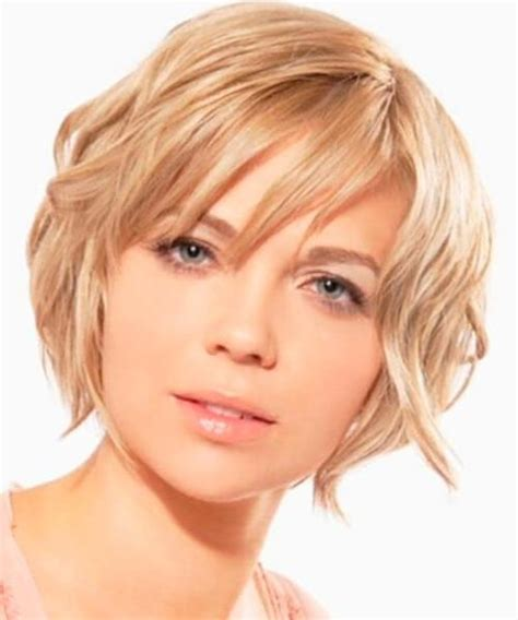 ideas  short hairstyles  oval face thick hair