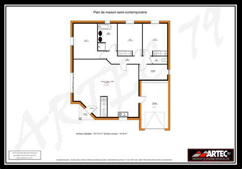plan maison 7 chambres plan maison plain pied 100m2 3 chambres 7 plans de