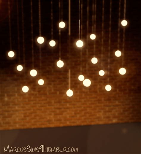 my sims 3 blog high low pendant lights by marcussims91