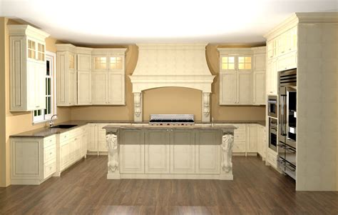 large kitchen with custom hood features large enkeboll