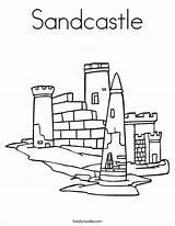 Sandcastle Coloring Sand Castillo Play Arena Castle Let Worksheet Built Cursive Lets Outline Twistynoodle California Usa Tracing Noodle Login Favorites sketch template