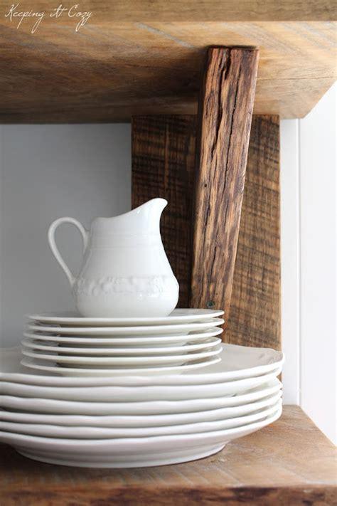 reclaimed wood kitchen shelves keeping it cozy reclaimed wood kitchen shelves