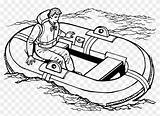 Raft Boat Clipart Water Transportation Drawing Boats Coloring Pages Lifeboat Speed Background Motor Transport Transparent Inflatable Clip Difference Spot Jackets sketch template