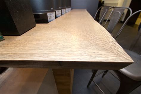 oak counter top qvc whipped white oak wall cladding and white oak live edge countertops resawn timber co