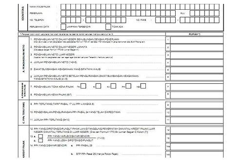 baixar formular pendaftaran wajib pajak orang pribadi terbaru